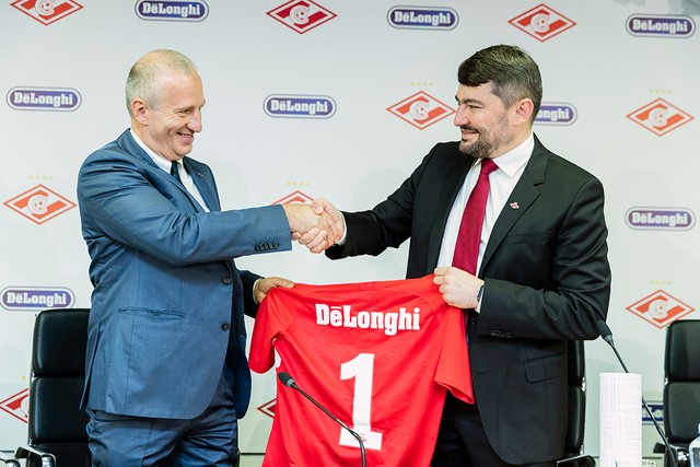 De'Longhi becomes Spartak's official partner