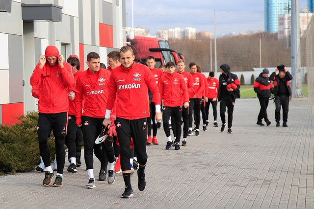 Spartak Players To Keep Fit At Home