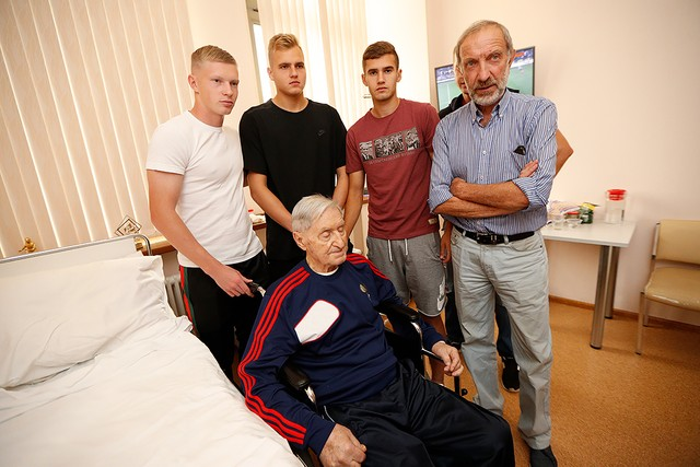 Maksimenko, Rasskazov and Lomovitsky visited Aleksey Paramonov