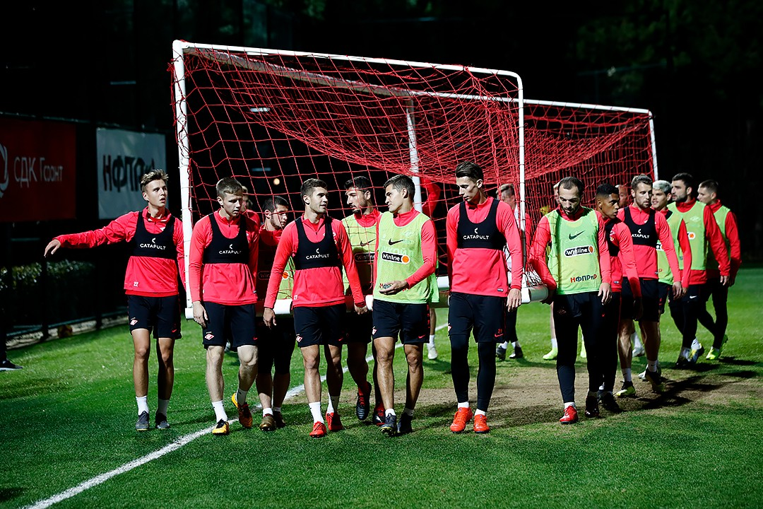First training session in Belek upon return