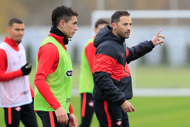 Domenico Tedesco's first training session