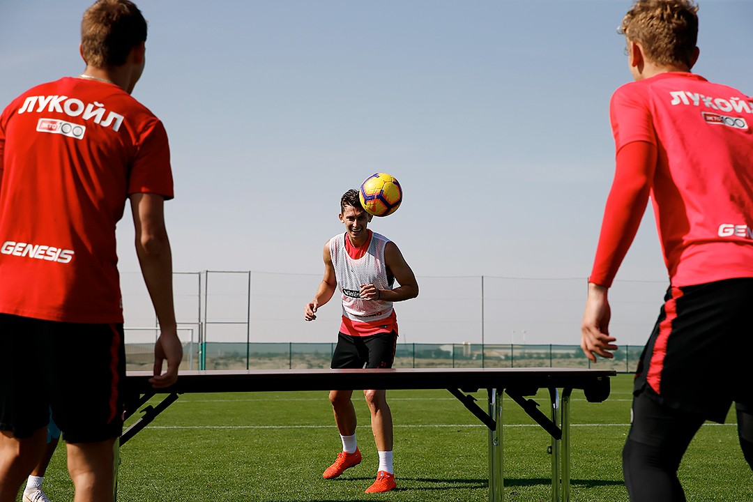 January 13: an unusual training session, Zobnin trains with the main group