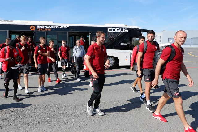 Spartak Moscow heads out to Krasnodar